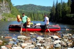 Отдых в Сибире - сплав по горной реке
